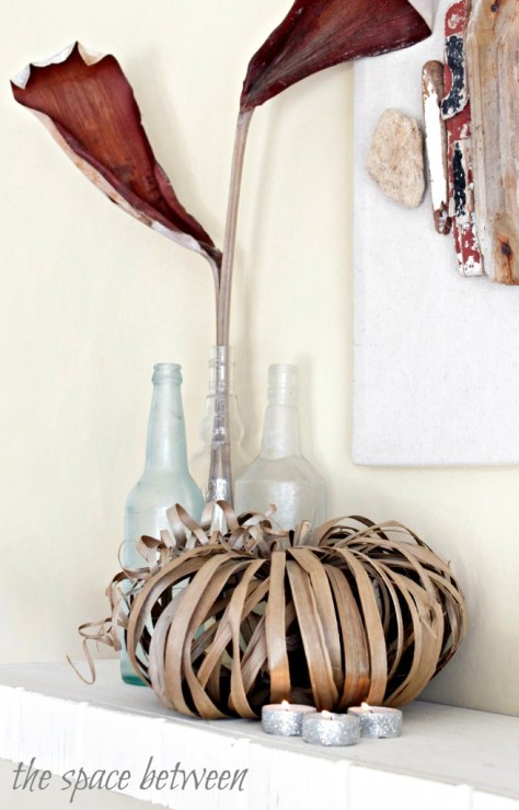 10 - The Space Between - Palm Frond Leaf Pumpkin