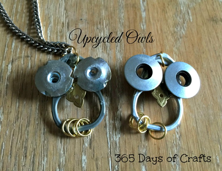 Anna's upcycled jewelry Owls