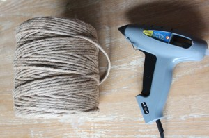glue gun and jute