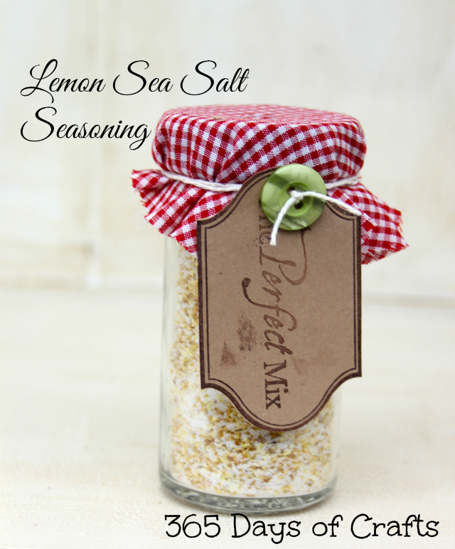 Lemon Salt in a Jar - food gift handmade goodies