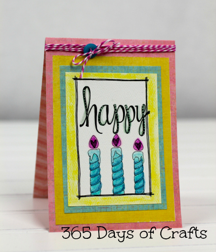 Adornit Happy Birthday  Candle Card