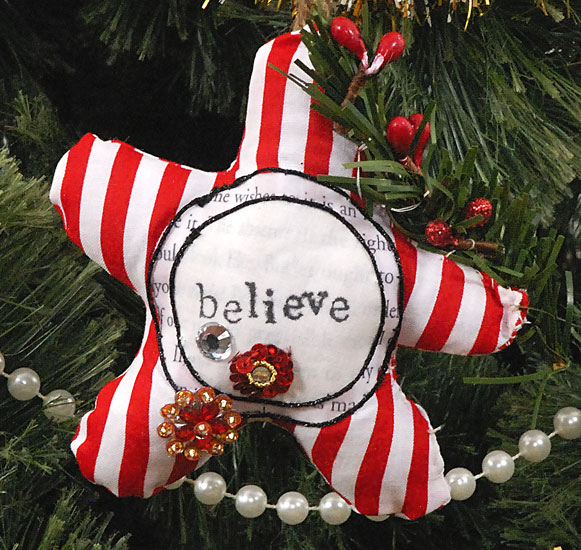 striped star ornament