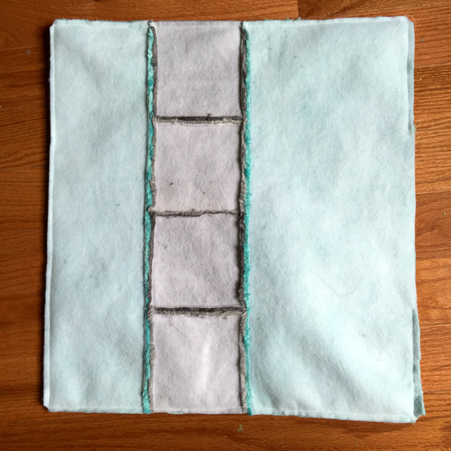 grey and aqua pillow tutorial