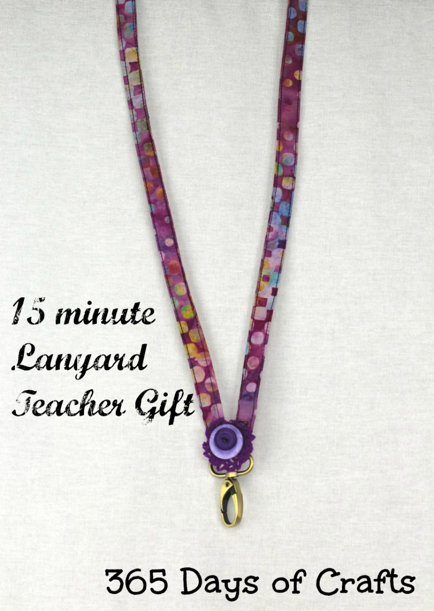 15 minute teacher gift - a lanyard