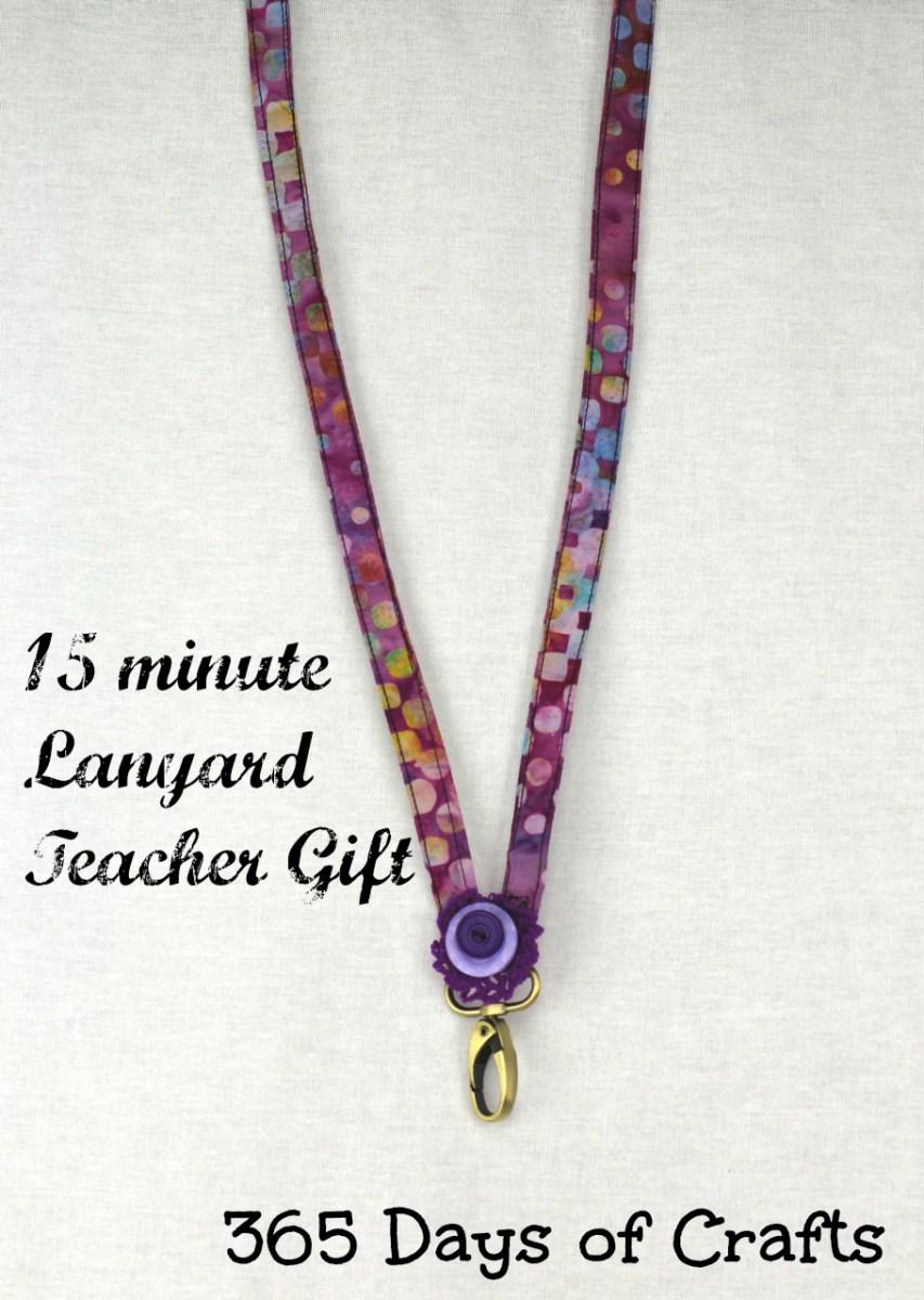 15 minute teacher gift - a lanyard