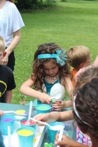 gigi the wild child mermaid party sand art