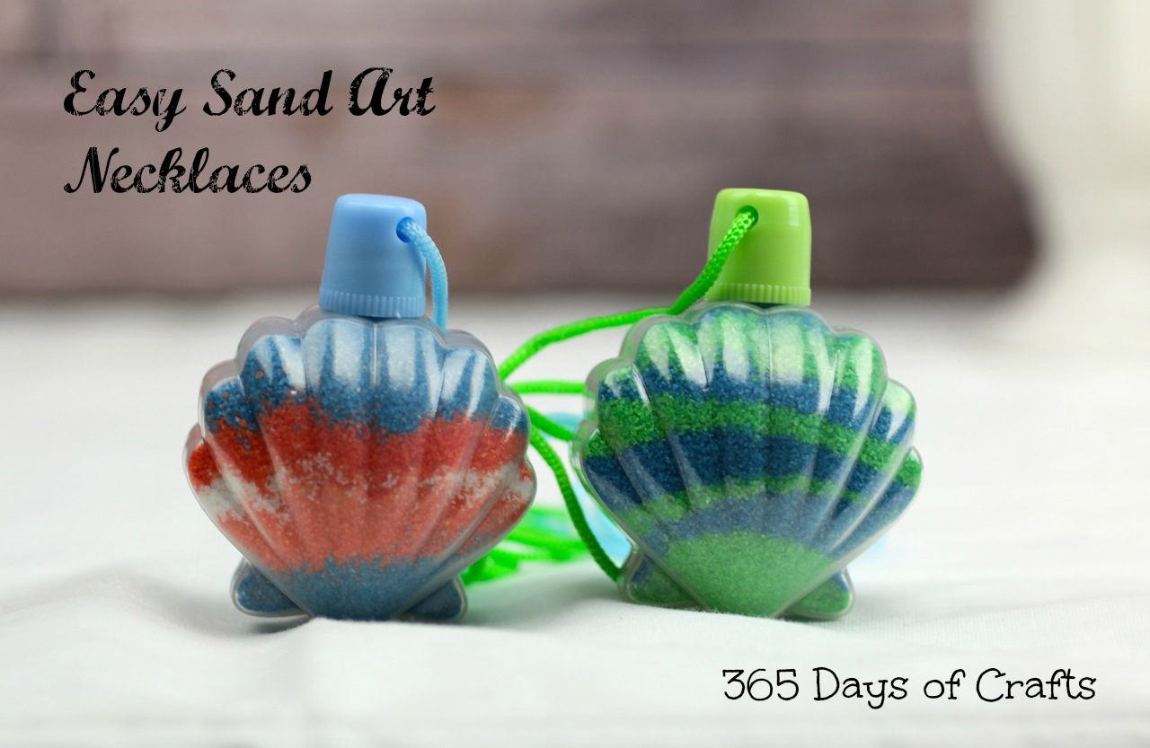 sand art necklaces for kids 365 days of crafts