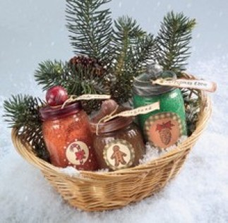 gingerbread man spa gift set