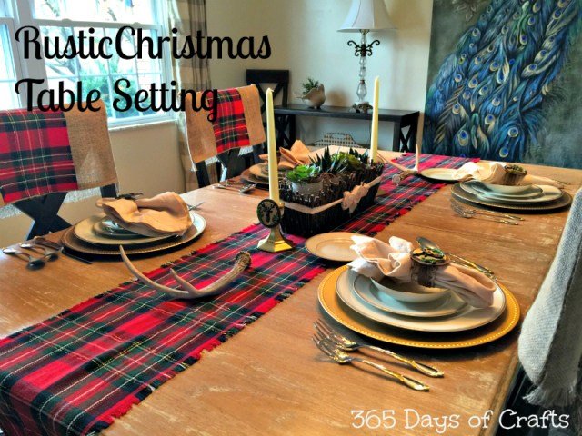 rustic Christmas table setting 2