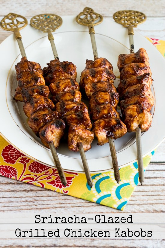 16 - Kalyns Kitchen - Sriracha Glazed Grilled Chicken Kabobs