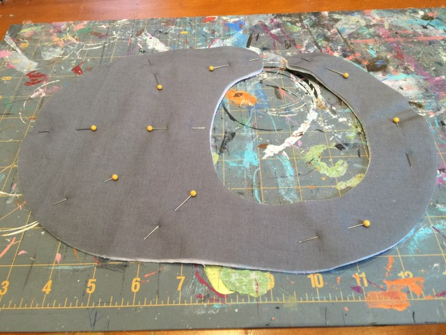 how to layer pieces for baby bib