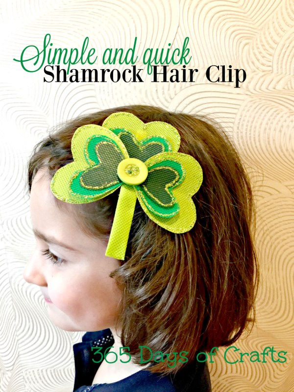shamrock hair clip with olyfun beauty