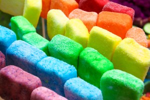 rainbow marshmallow pops