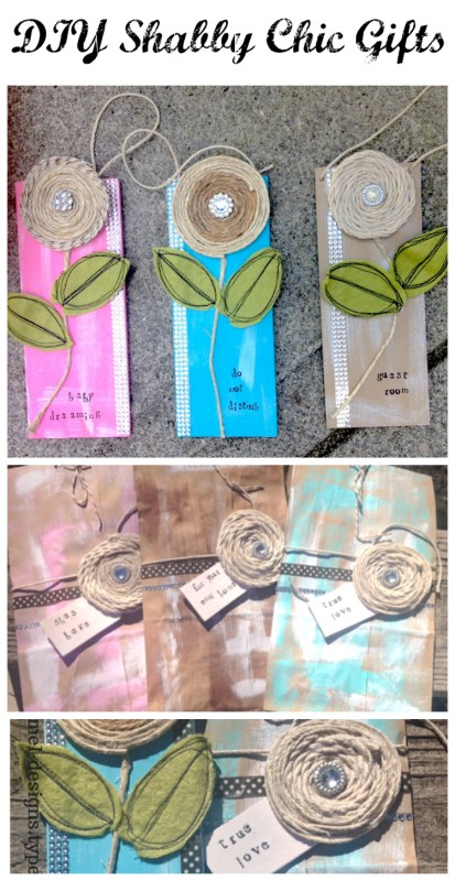 Shabby Chic gift tags and gift bags