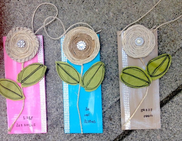 shabby chic door hangers