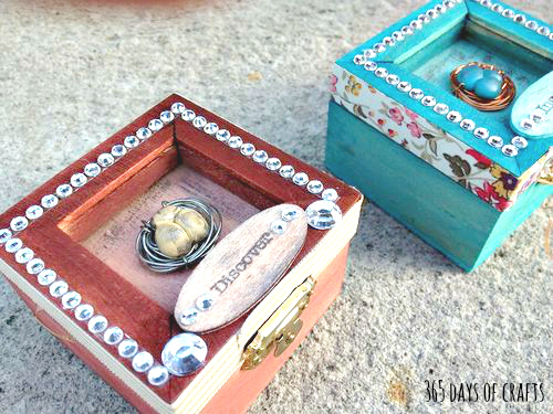bird nest shadow box gift packaging idea for jewelry