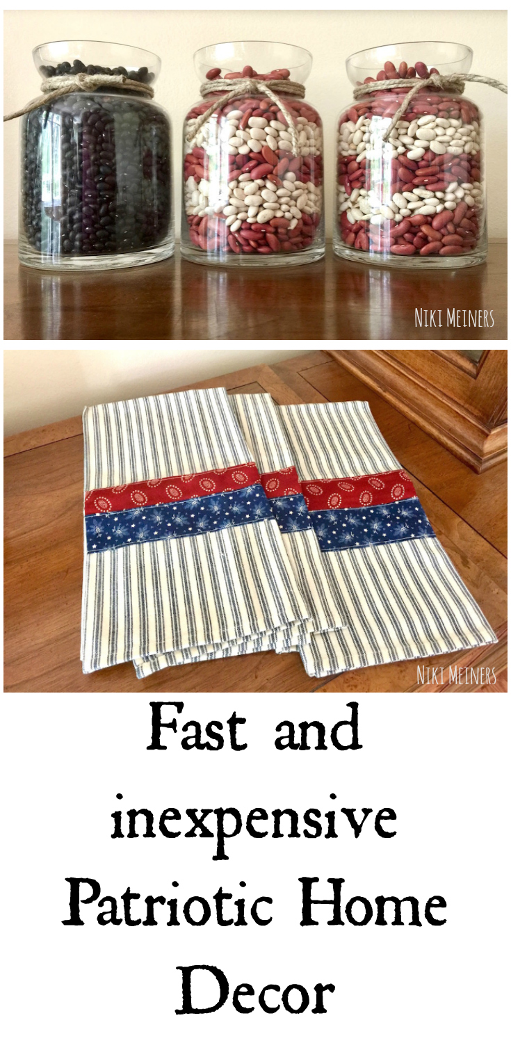 I Also Made Super Fast Hand Towels For The Kitchen To Go With The Americana  Style Decorations.