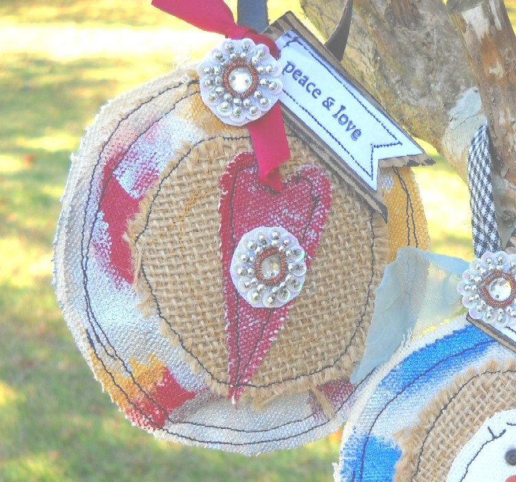 mixed media christmas ornaments