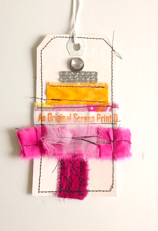 scrap fabric craft ideas selvage edge gift tags