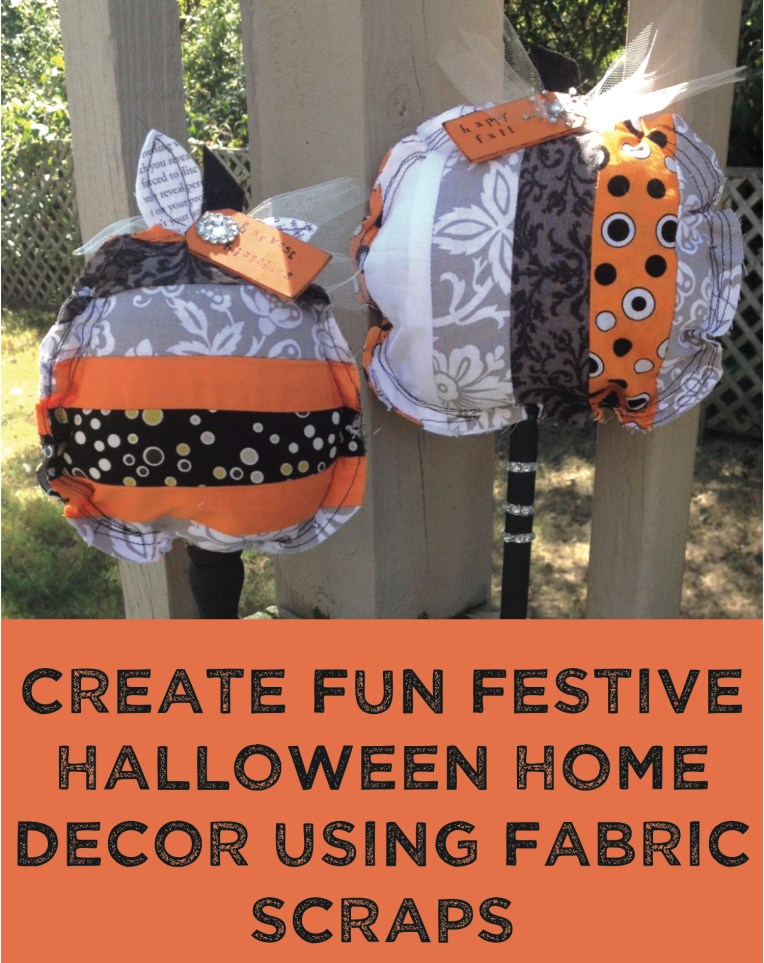 fabric strip pumpkins