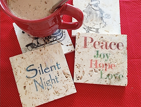 Create Simple Holiday Coasters Using Mod Podge Days Of Crafts - Create coasters from photos
