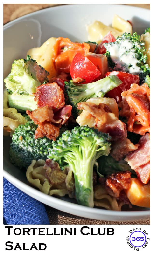 Tortellini Club Salad pinterest