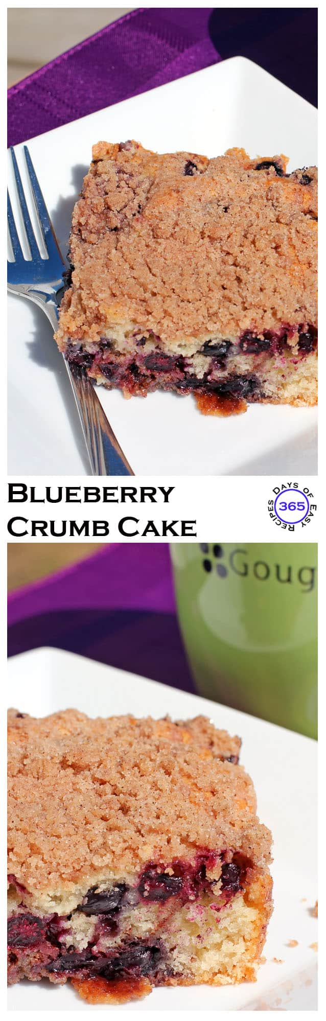 This blueberry crumb cake makes the perfect coffee break treat | 365 Days of Easy Recipes