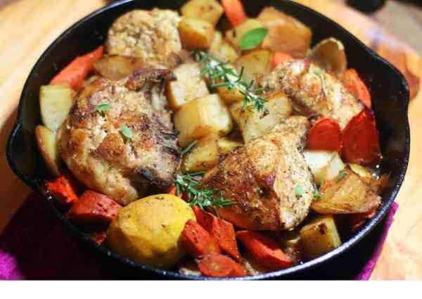 Braised Chicken with Potatoes and Vegetables