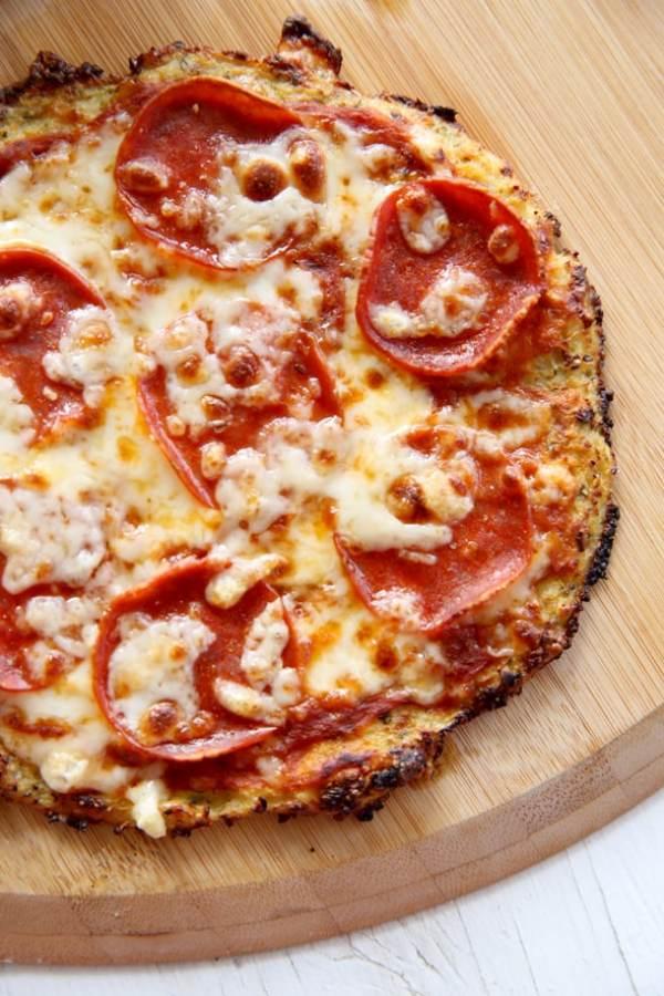 Pepperoni Cauliflower Pizza Crust
