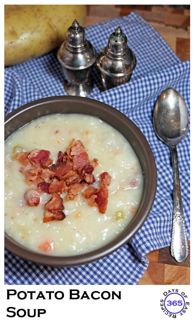 Easy Potato Bacon Soup | 365daysofeasyrecipes.com