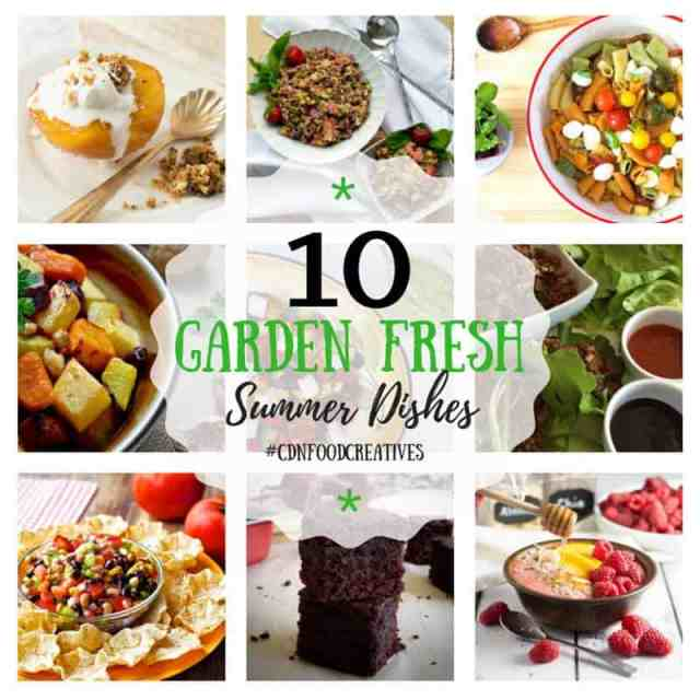 10 Garden Fresh Summer Dishes #CDNFoodCreatives Delicious summer recipes perfect for a BBQ or an every day easy meal. | 365 Days of Easy Recipes