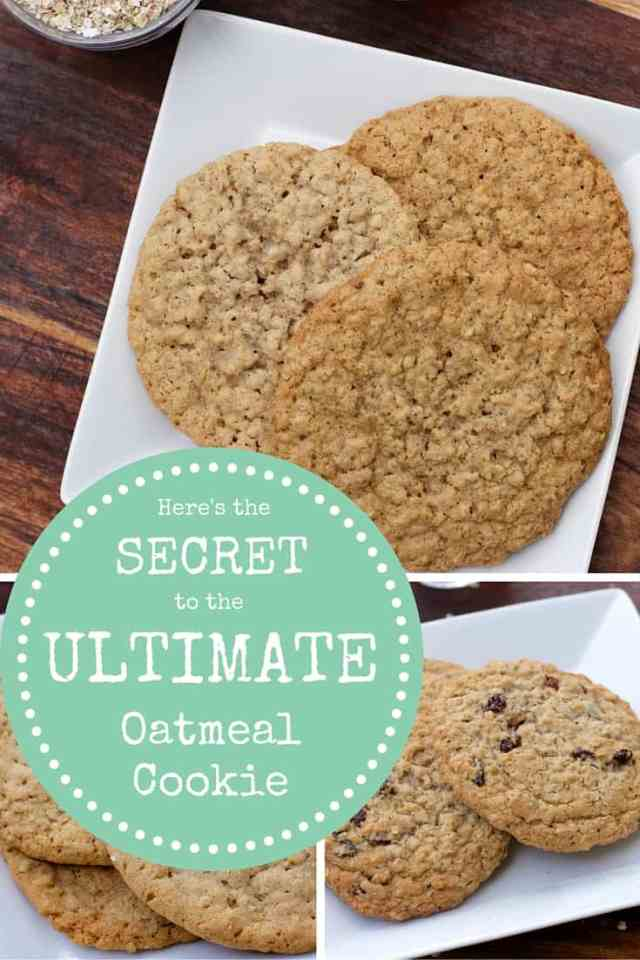 The Secret to the Ultimate Oatmeal Cookie | 365 Days of Easy Recipes