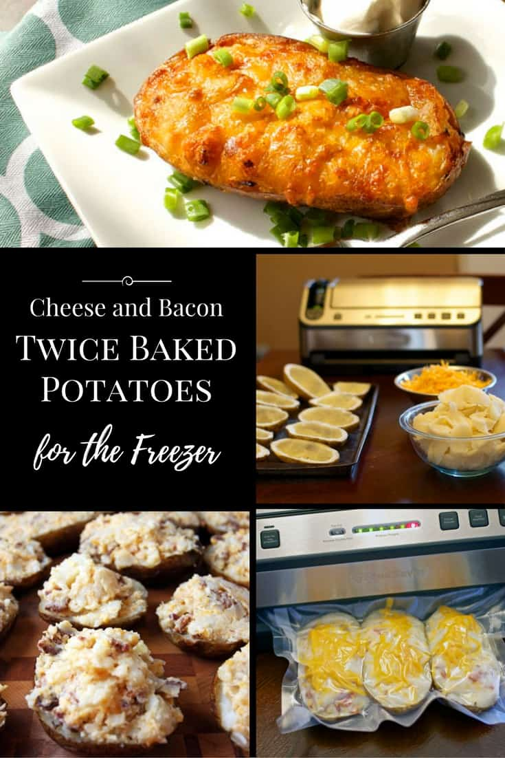 These Bacon & Cheese Twice Baked Potatoes for the freezer are the perfect side dish for when life gets a little crazy. Meal planning at its finest | 365 Days of Easy Recipes