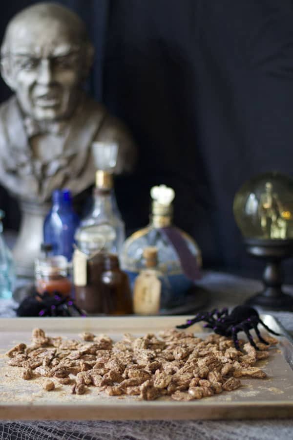 Harry Potter inspired Cockroach Candied Pecans | 365 Das of Easy Recipes