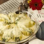 Stuffed Pasta Shells with Ricotta, Spinach & Bacon
