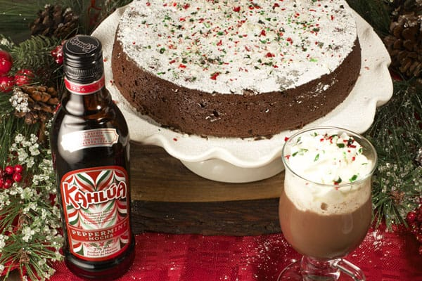 This Peppermint Flourless Chocolate Cake with Kahlua will be the hit of the Christmas party   365 Days of Easy Recipes