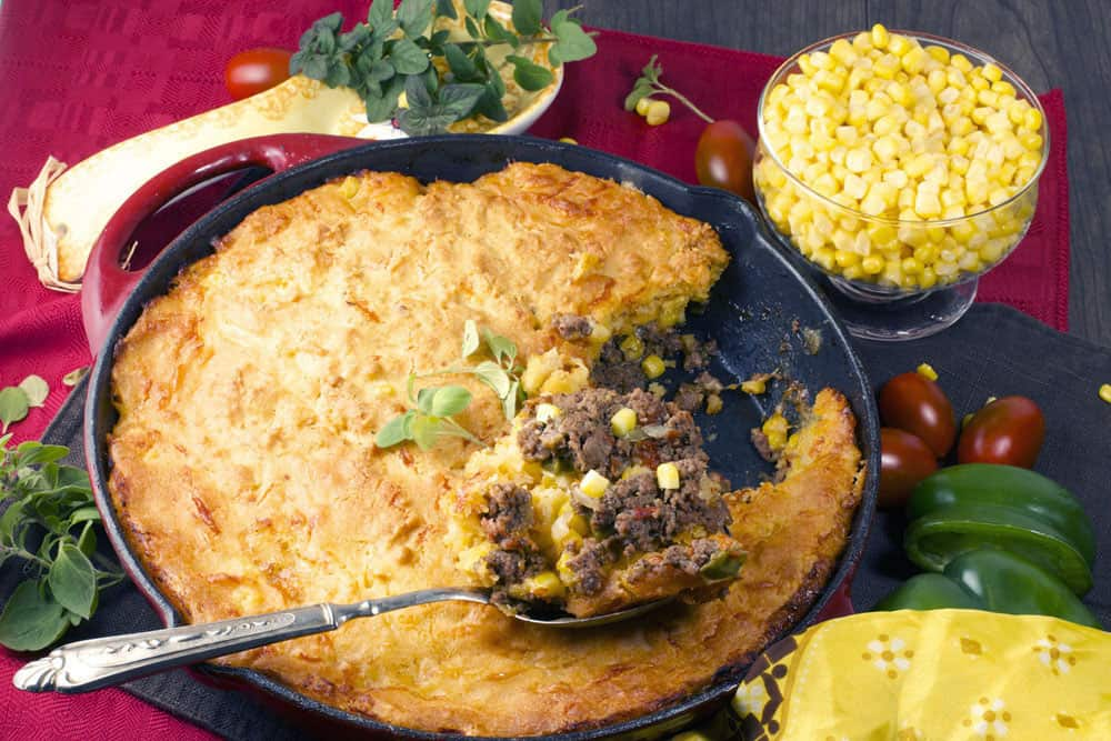 Hot Tamale Pie with a Cornbread Crust, an easy dinner recipe | 365 Days of Easy Recipes