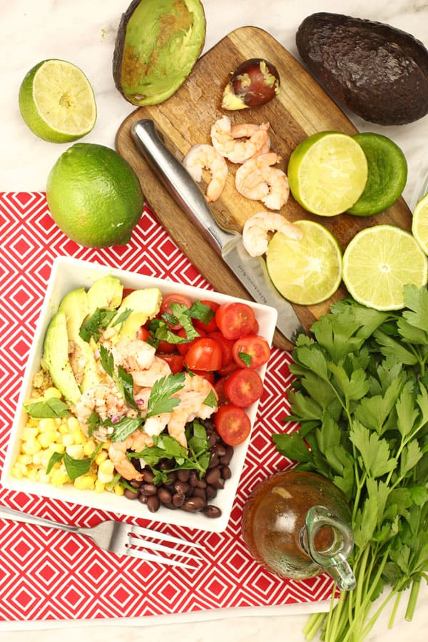 Healthy Lime Shrimp Avocado Quinoa Salad Recipe that's quick to put together | 365 Days of Easy Recipes