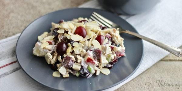A delicious gluten free Chicken Salad with Fruit. Perfect for picnics and other on-the-go adventures