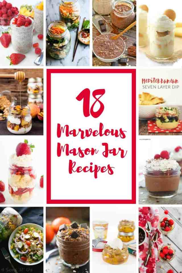 18 Marvelous Mason Jar Recipes for busy on the go people or for a spring picnic | 365 Days of Easy Recipes