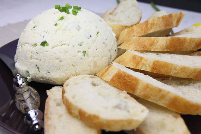 Chive & Shallot Cheese Spread spread is perfect on crackers or bread. An easy party appetizer.