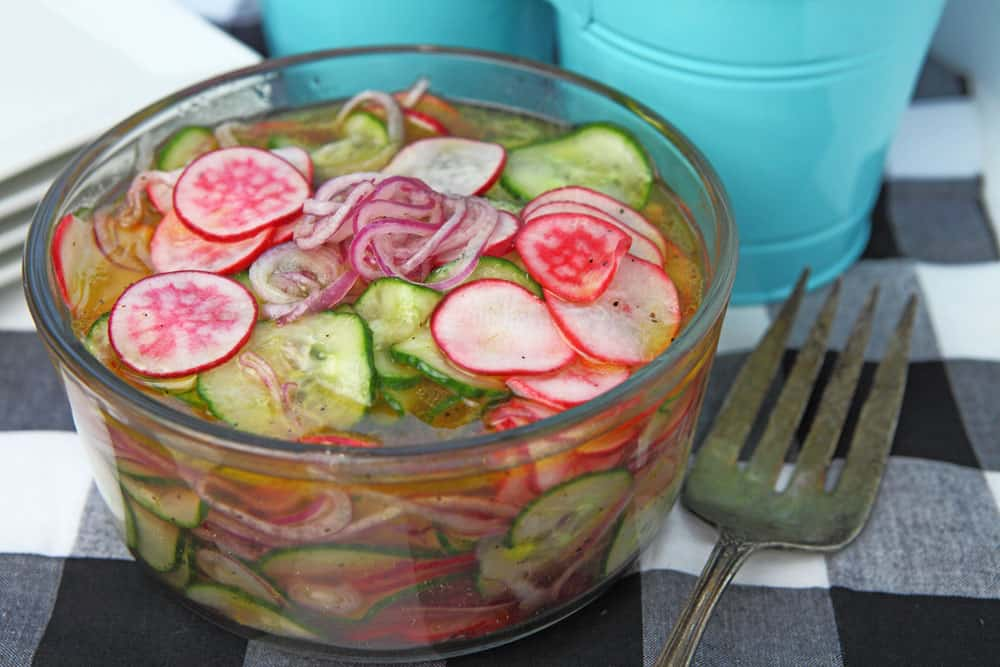 Cucumber Radish Pickled Salad
