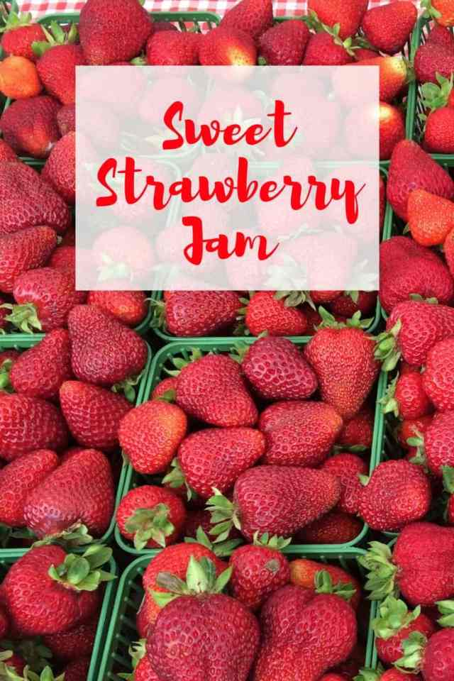Sweet strawberry jam, perfect for any breakfast table
