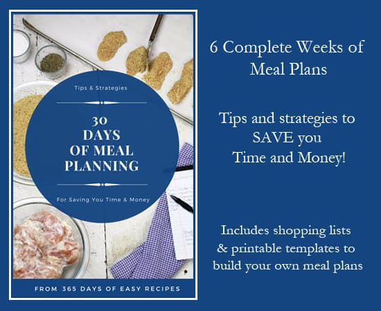 30 Days of Meal Planning