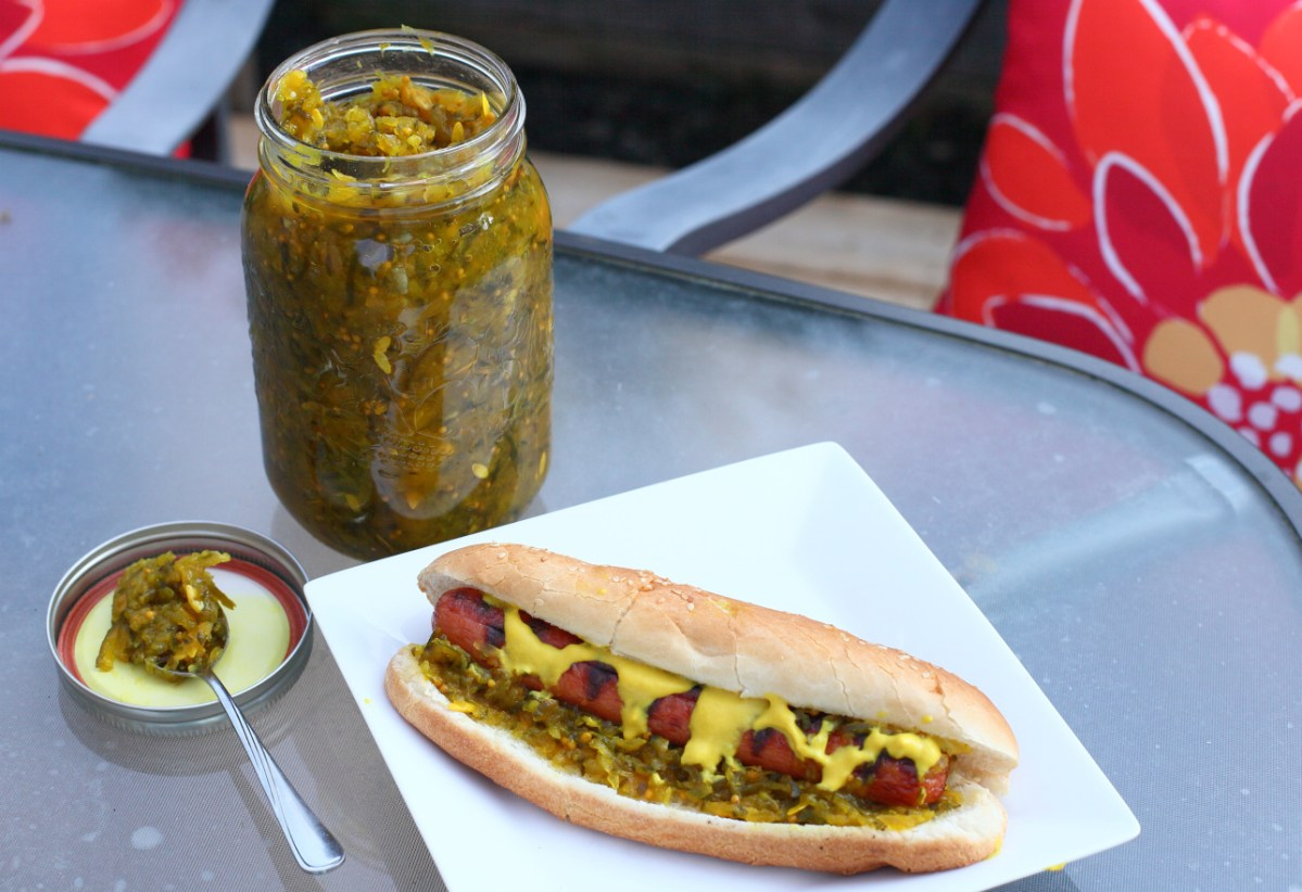 Homemade Cucumber Relish