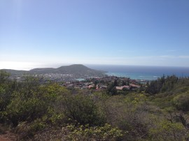 Hiking up the Trail