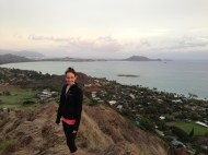 Kaneohe Bay in the background.