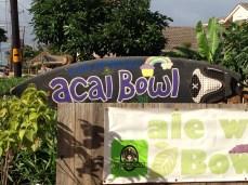 Açaí Bowl Sign