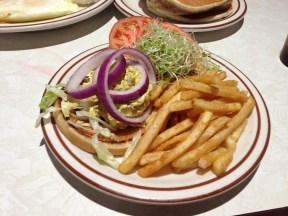 My curry chicken salad sandwich...so good!