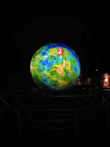 Planetarium! The globe changed to show all the different planets, sun, moons, etc. It was awesome!